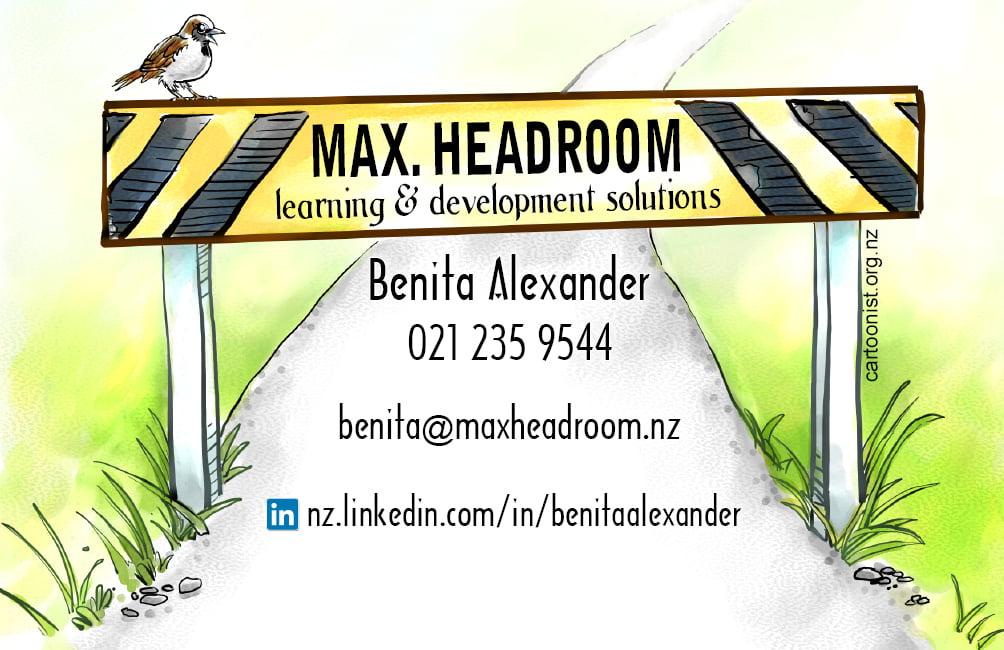 cartooned business card