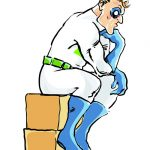 business mascots- The moving Box Guy