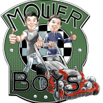 Mower Boys- Retro Logo with Caricature