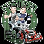 Mower Boys- Retro Logo with Caricature