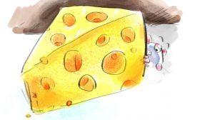 Basic cartoon for powerpoint- Cheese